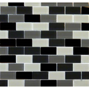 Black Blend Glass Brick Pattern