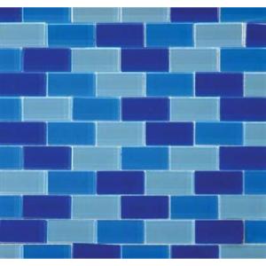 Blue Blend Glass Brick Pattern