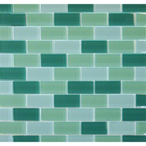 Green Blend Glass Brick Pattern