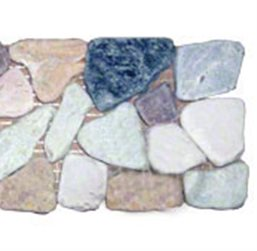 Marble Rock Pebble Border